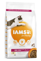 Iams for Vitality Senior Cat Food with Chicken