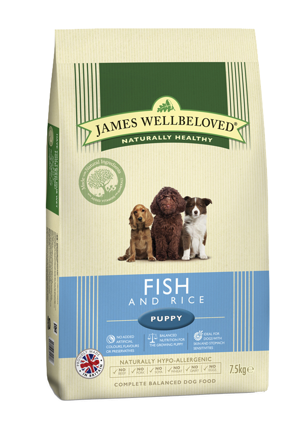 James Wellbeloved Puppy Ocean Fish