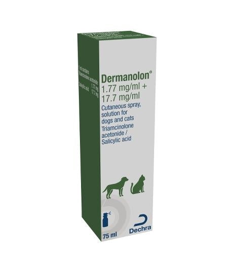 Dermanolon Spray for Dogs and Cats 75ml