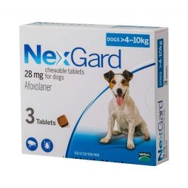 Nexgard Chewable Tablets for Medium Dogs 4-10kg