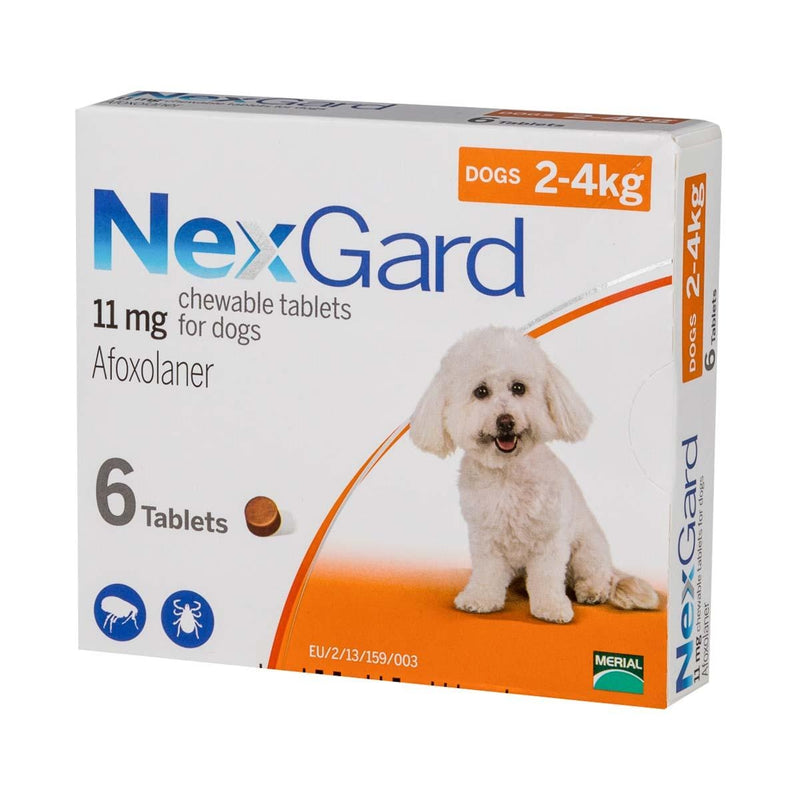 Nexgard Chewable Tablets for Small Dogs 2-4kg