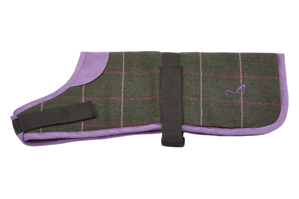 Kensington Dog Coat Tweed Green Check