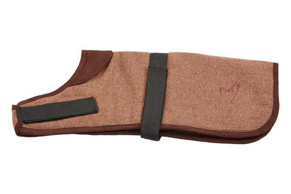 Kensington Dog Coat Tweed Brown Herringbone