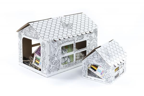 Cardboard Colour-In Small Animal House (Medium)