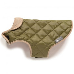 Danish Design Quilted Dog Coat Forest Green