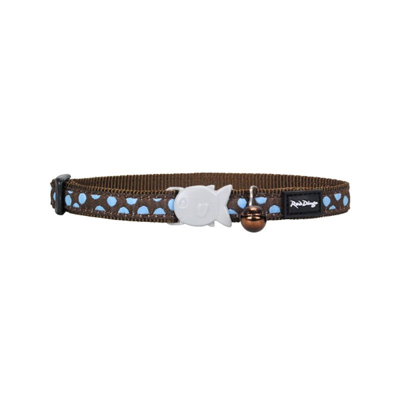 Red Dingo Cat Collar Blue Spots