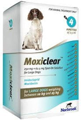 Moxiclear Large Dog 10kg-25kg (4 Pipettes)
