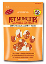 Pet Munchies Chicken And Calcium Bones Dog Treats 100g