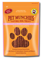 Pet Munchies Chicken & Sweet Potato Sticks Dog Treats 90g
