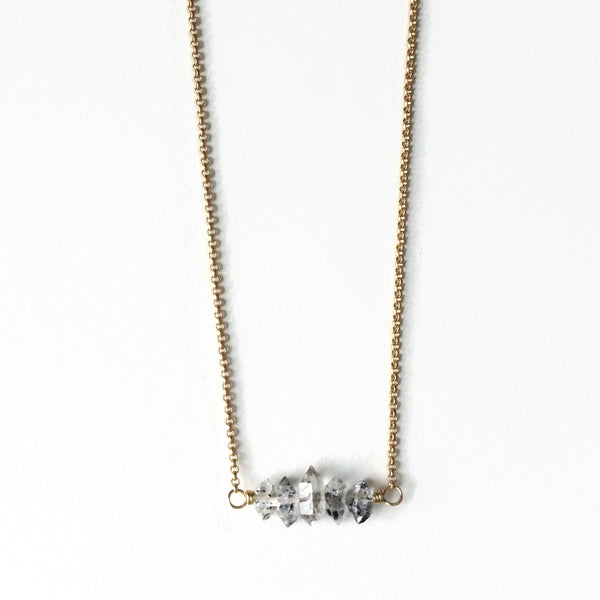 Herkimer Diamond Bar Necklace