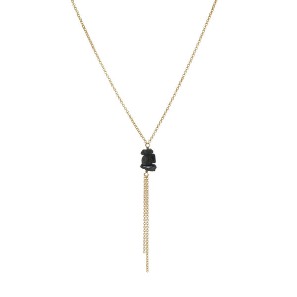 Darya Necklace - Black Tourmaline