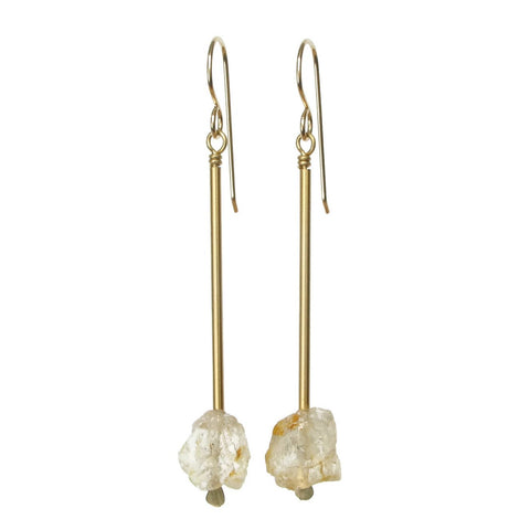 Jana Earrings - Yellow Topaz
