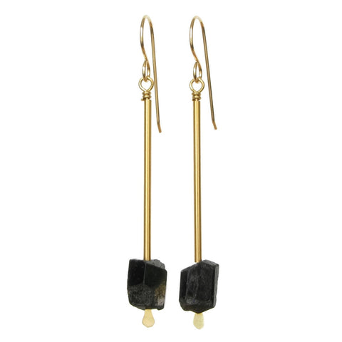 Jana Earrings - Black Tourmaline