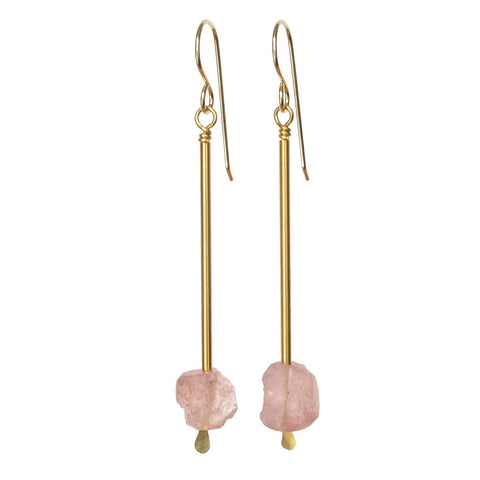 Jana Earrings - Strawberry Quartz