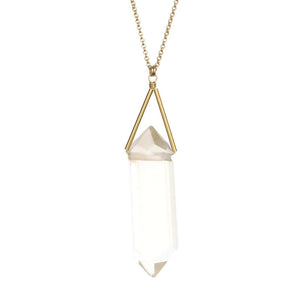 Toro Necklace - Crystal Clear Quartz