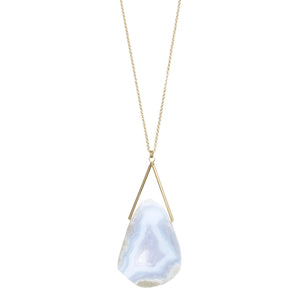 Lago Necklace - Blue Lace Agate