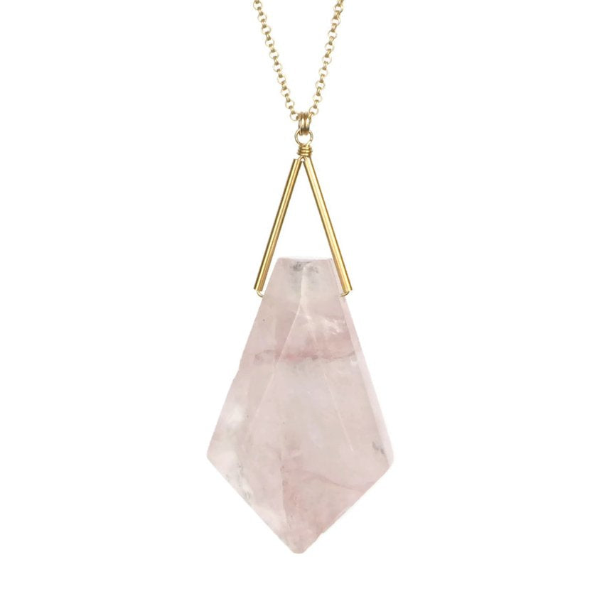 Lago Necklace - Rose Quartz