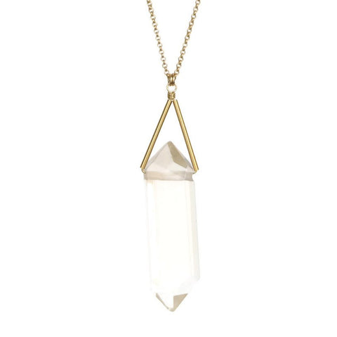 Lago Necklace - Crystal Quartz