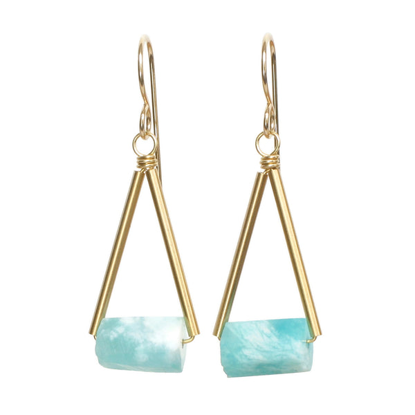 Pavi Earrings - Amazonite