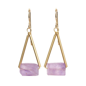 Pavi Earrings - Amethyst