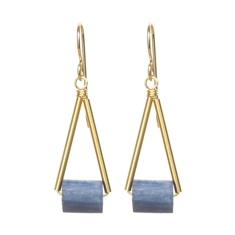 Pavi Earrings - Kyanite