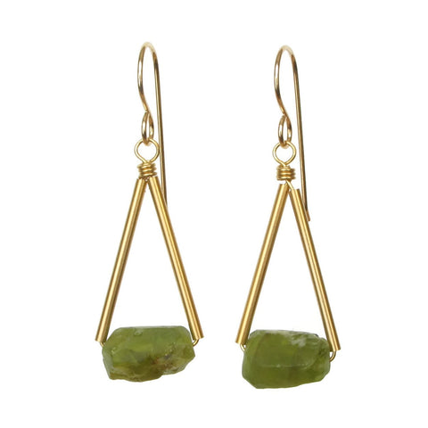 Pavi Earrings - Peridot