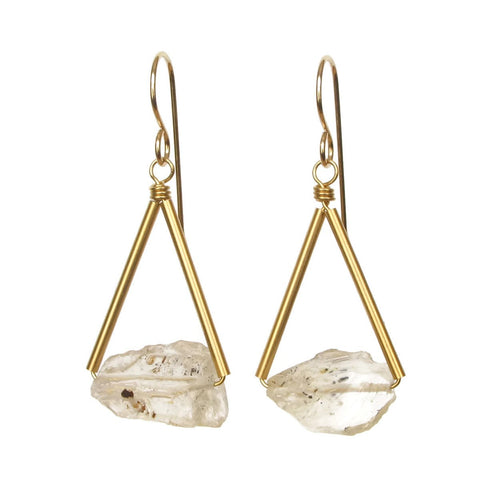 Pavi Earrings - Yellow Topaz