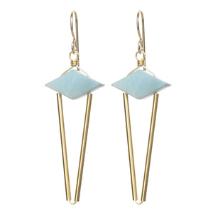 Point Earrings - Amazonite