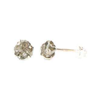 Raw Gemstone Studs - Pyrite