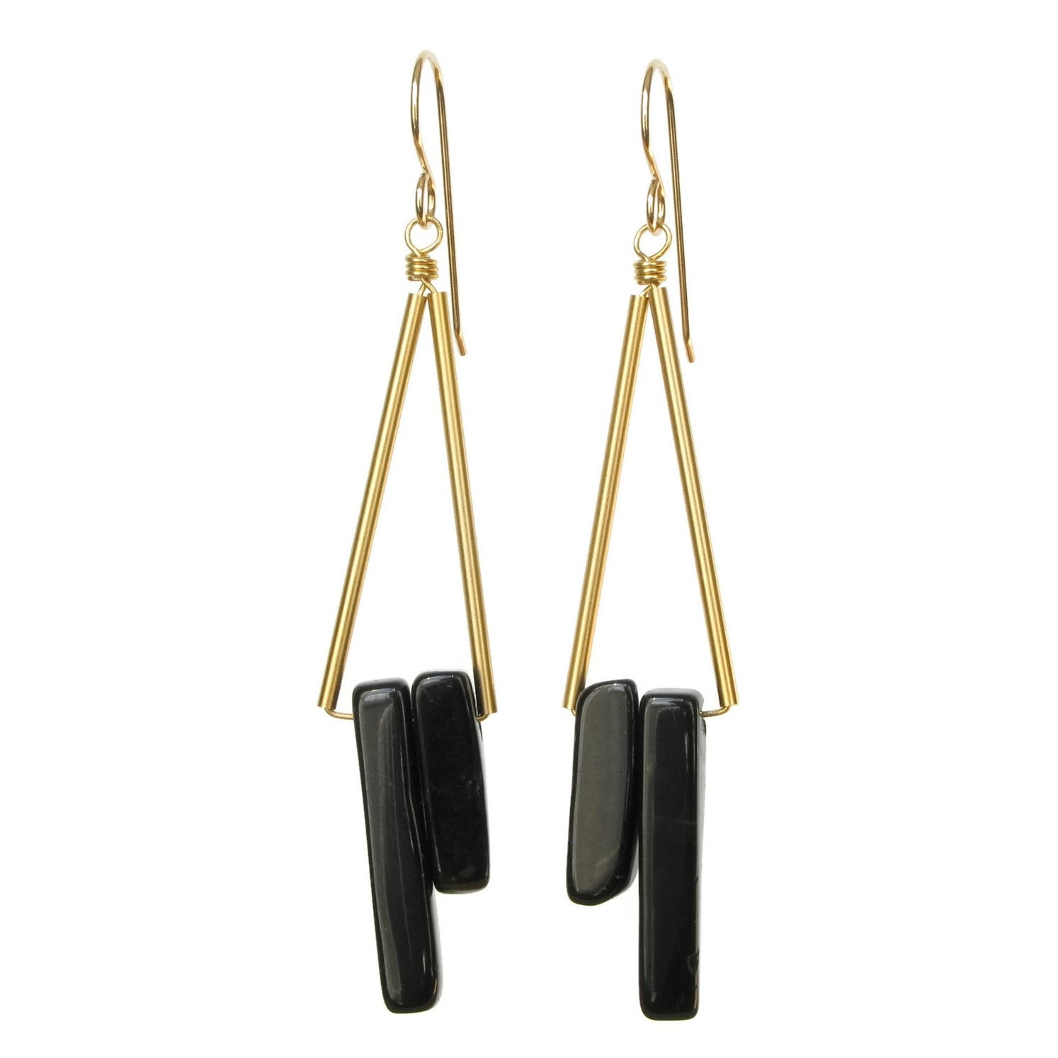 Reese Earrings - Black Onyx
