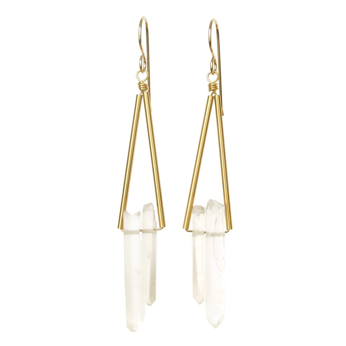 Reese Earrings - Crystal Quartz
