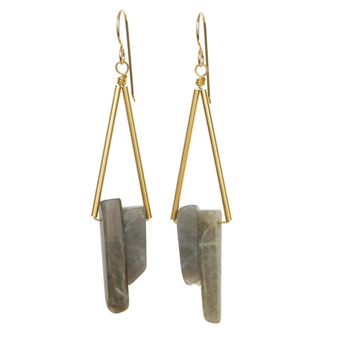 Reese Earrings - Labradorite