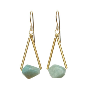 Riki Earrings - Amazonite