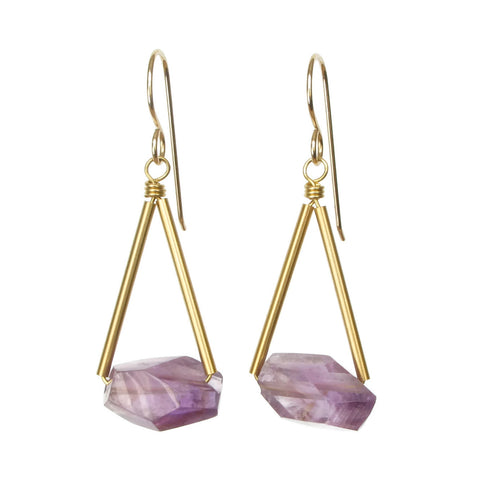 Riki Earrings - Amethyst