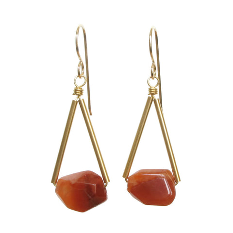 Riki Earrings - Carnelian