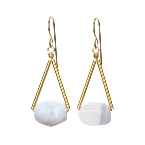 Riki Earrings - Chalcedony