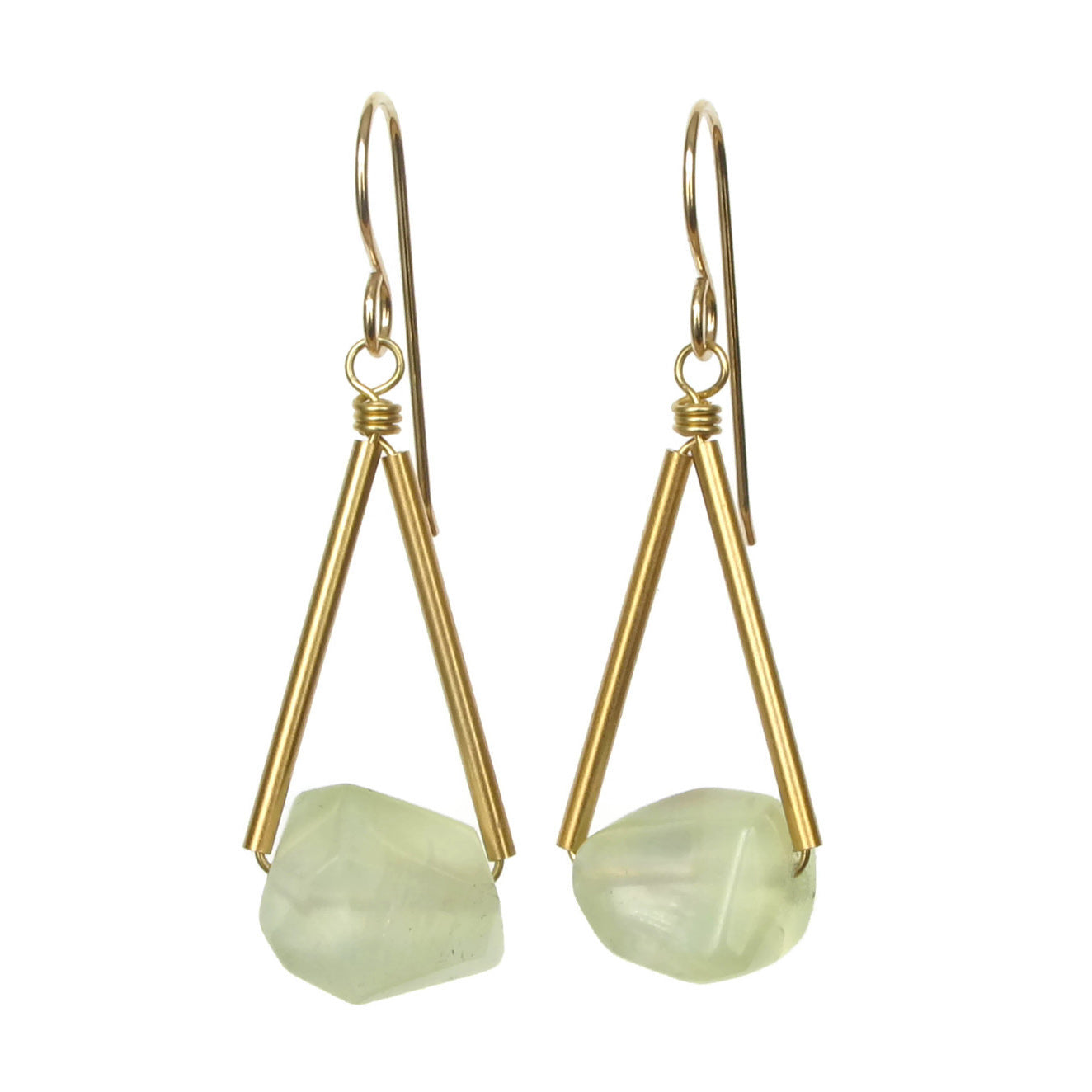 Riki Earrings - Prehnite