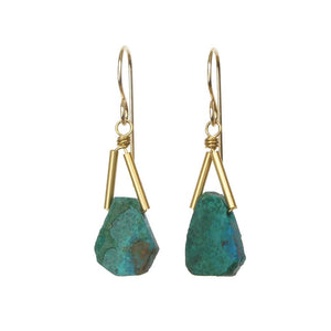 Rio Earrings - Chrysocolla