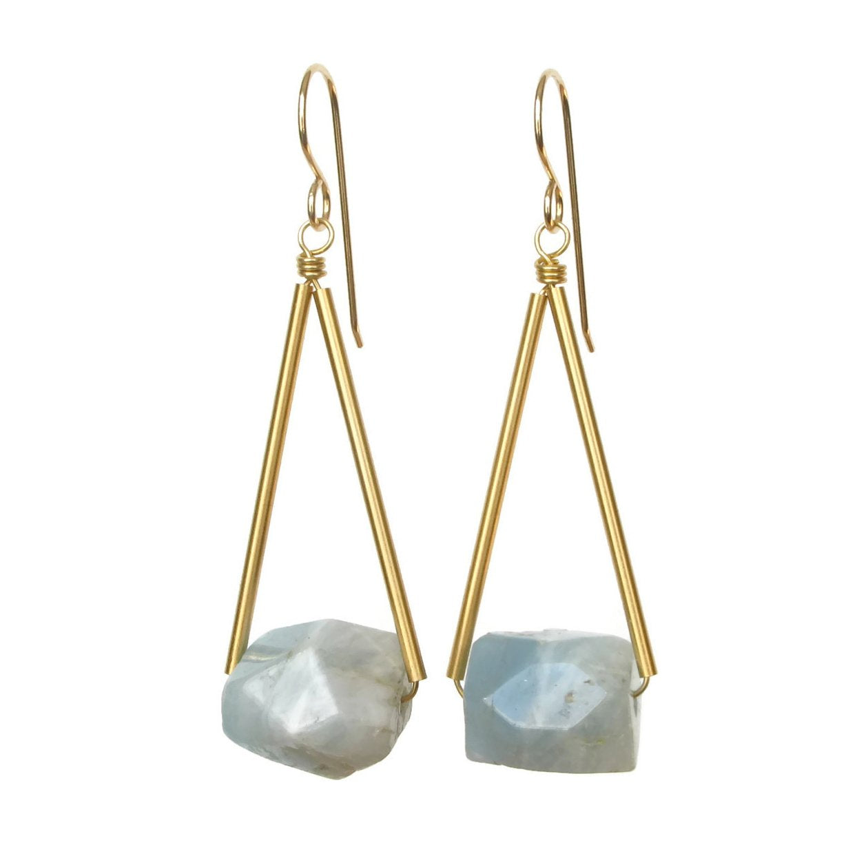 Sana Earrings - Aquamarine