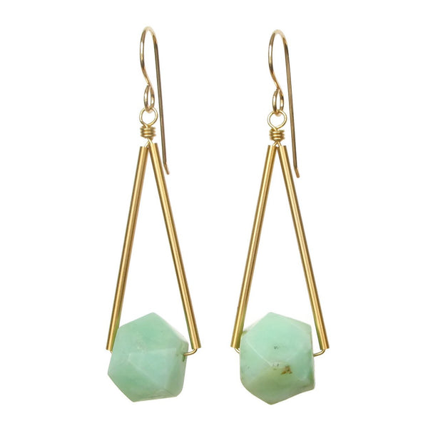 Sana Earrings - Chrysoprase