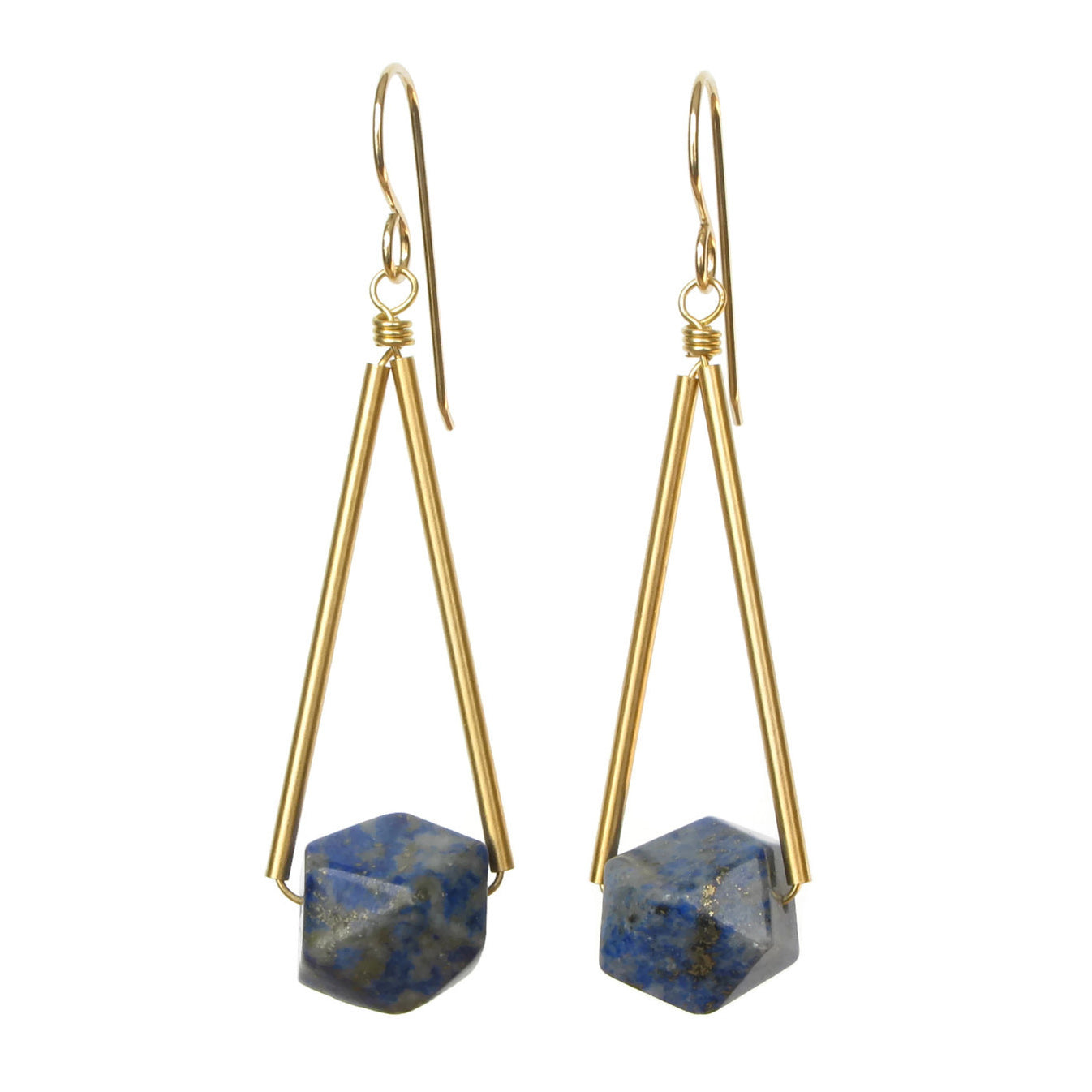 Sana Earrings - Lapis Lazuli