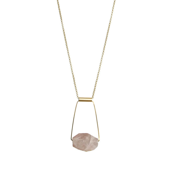 Taryn Necklace - Rutilated Quartz
