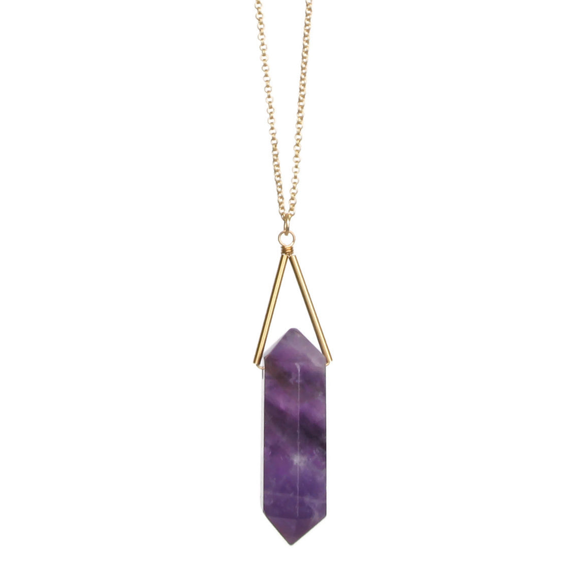 Toro Necklace - Crystal Amethyst