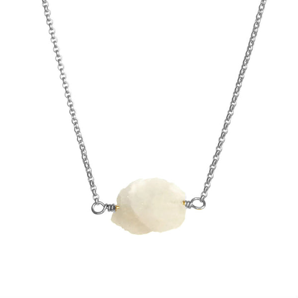 Zeeba Necklace - Rainbow Moonstone