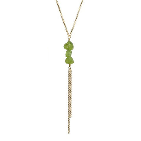Darya Necklace - Peridot