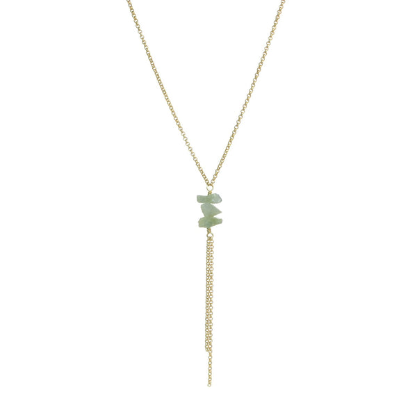 Darya Necklace - Aquamarine