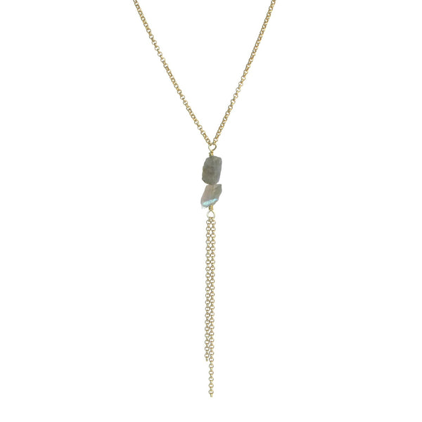 Darya Necklace - Labradorite