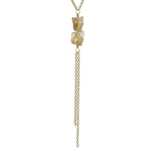 Darya Necklace - Yellow Topaz