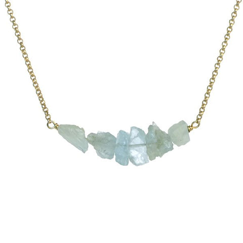 Donya Necklace - Aquamarine