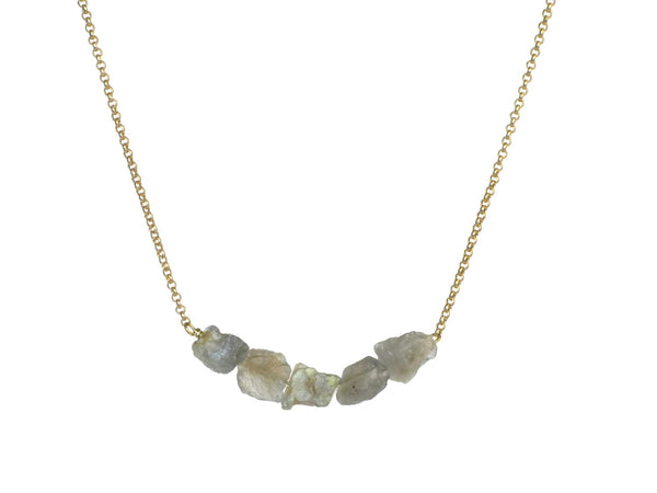 Donya Necklace - Labradorite